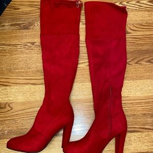 Tall Red Heeled Boots